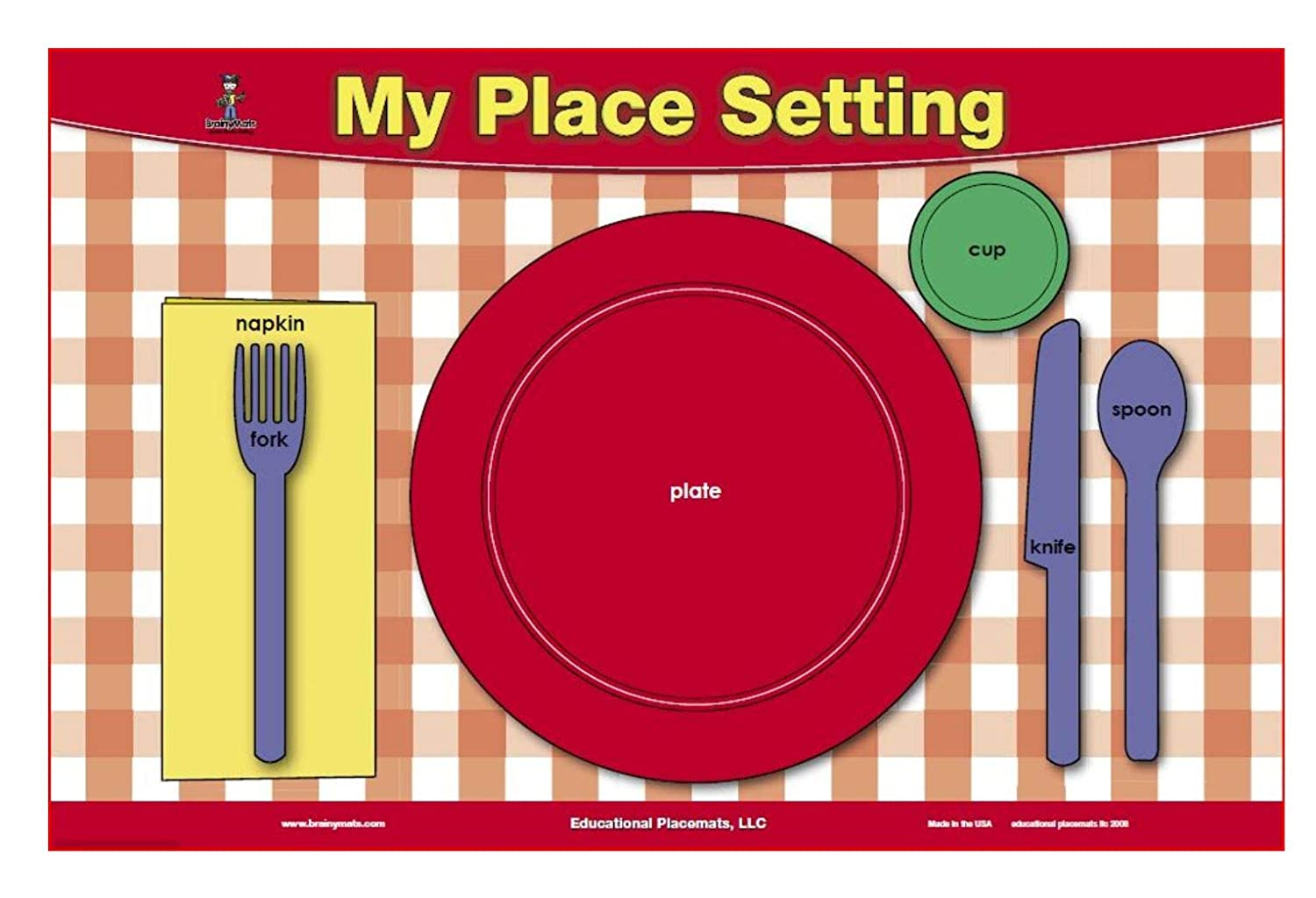 graphic relating to My Plate Printable Placemat named Desk Natural environment Manners Placemat