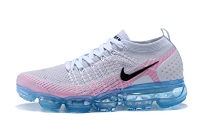 a984d757d81 NEWAIRS Air Vapormax Flyknit 2 White Pink Blue Womens Running Shoes ...