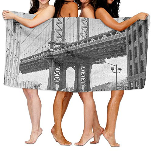 TRUSTINEEg Brooklyn New York Usa Landmark Bridge Street With Cars Photo Woman Spa Shower Bath Towels Traveling Quick-drying Sports Swimming Beach Towel (Used New Cars Brooklyn York)