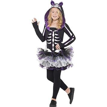 Amakando Katzenkostum Kinder Katzen Skelett Kostum M 7 9 Jahre