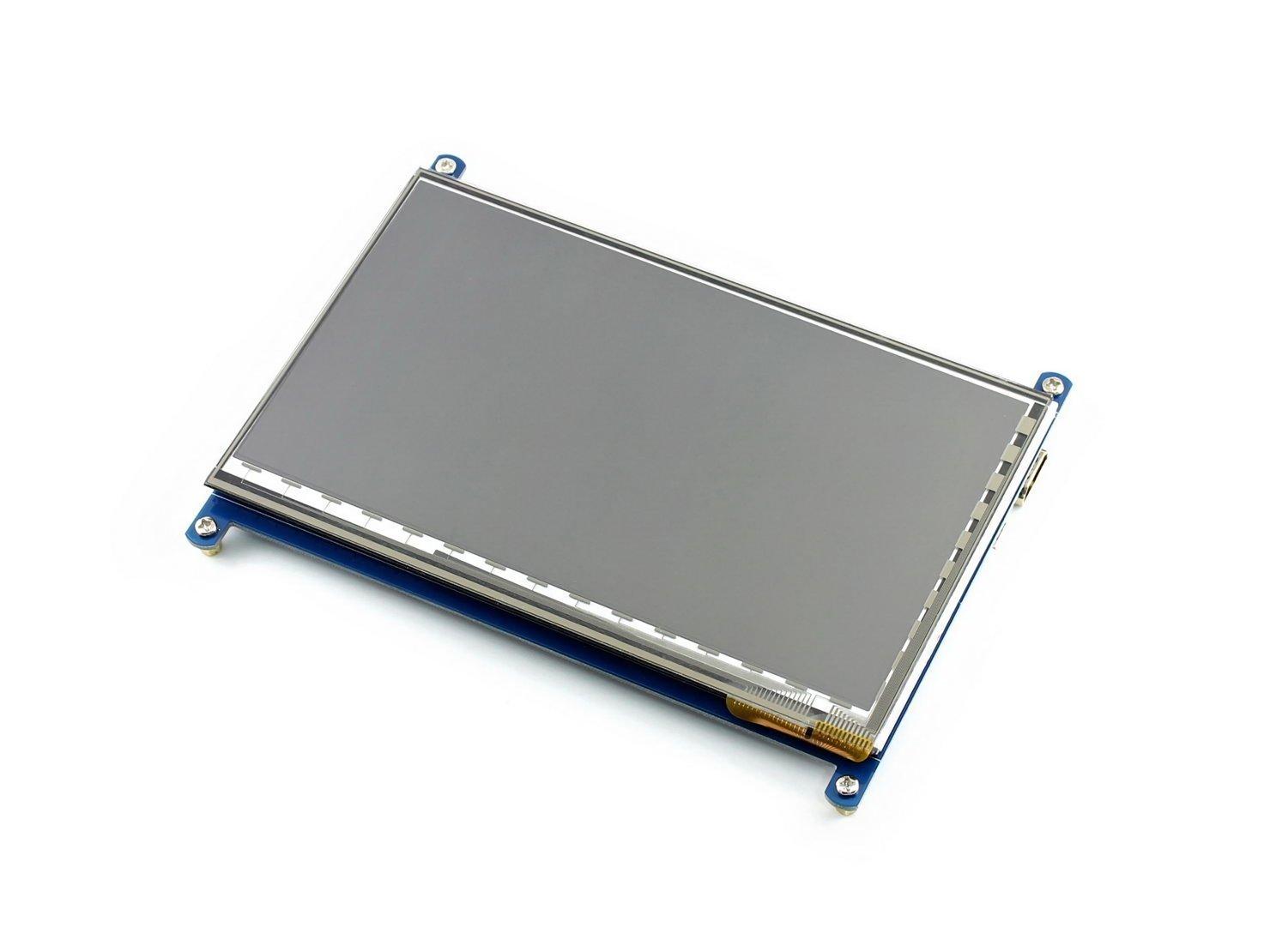 800/×480 HDMI Con il caso Bicolor Direttamente-Pluggable Progettato per Raspberry Pi 2 Model B//A Makibes Touch Screen 5 Inch LCD A