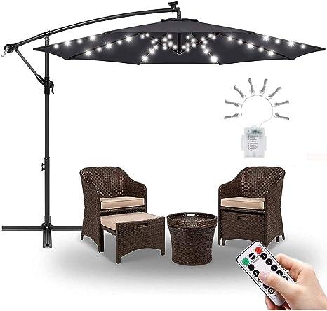 WAWZNN Lámpara para Sombrilla de Patio, Impermeables Luces para Sombrillas con Control Remoto, 8 Modos, 104 LED, Luz Blanca, para Iluminación Parasoles Terraza: Amazon.es: Deportes y aire libre