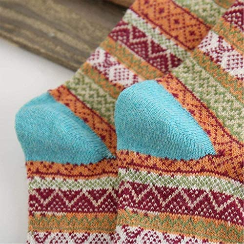 5 Pairs Womens Wool Socks Vintage Soft Cabin Warm Socks Thick Knit Cozy Winter Socks for Women Gifts