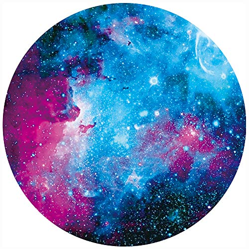 - BOSOBO Mouse Pad, Round Nebula Galaxy Mouse Pad, Personalized Designs, Dual Stitched Edges, Anti-Slip Rubber Base, Customized Mousepad for Women Girls Office Computer Laptop Travel, 7.9 x 7.9 Inch