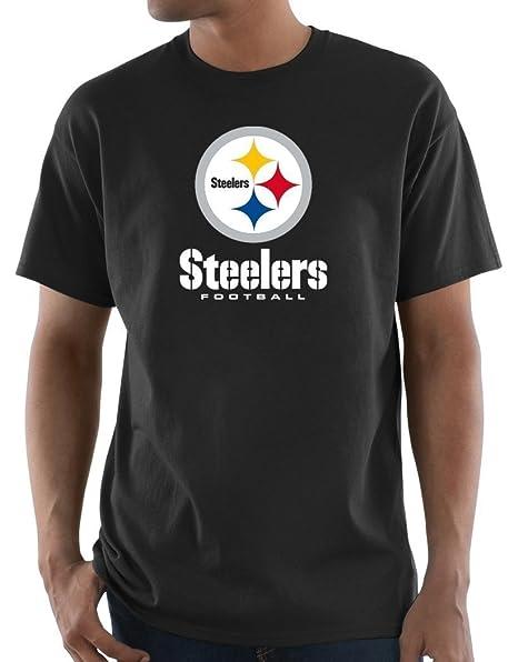 the best attitude 01a1b 7d3ea Amazon.com : Majestic Pittsburgh Steelers Black Screen Big ...