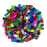 """Craft County 200 Piece 3/8"""" Contoured Side Release Plastic Buckles (20 Assorted Colors)"""