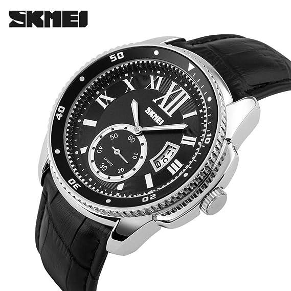 HWCOO Relojes de pulsera SKMEI reloj reloj para hombre reloj impermeable para hombres de negocios reloj de cuarzo reloj hombres 1135 (Color : 2): Amazon.es: ...