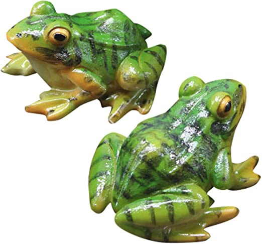 Details about  /2x Resin Frogs Doll Moss Micro World Bonsai Garden Small Ornaments Landscape