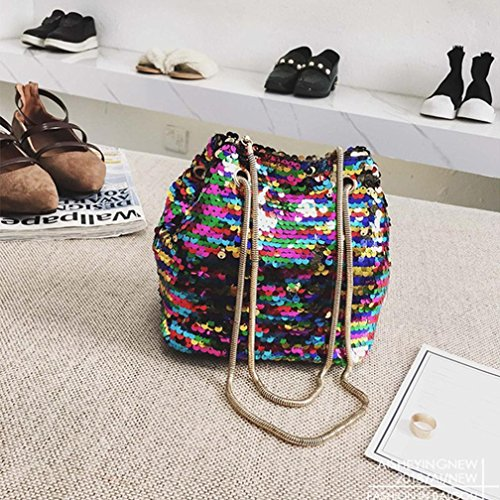 Bucket Ladies Shoulder Bags Messenger Bag Women Women's Bag Casual Shoulder Crossbody Fashion Multicolor Bag Handbags Beach Bags for Travel Sequins Handbags Tote Bling Female Bag Handbag qUxxZOaE