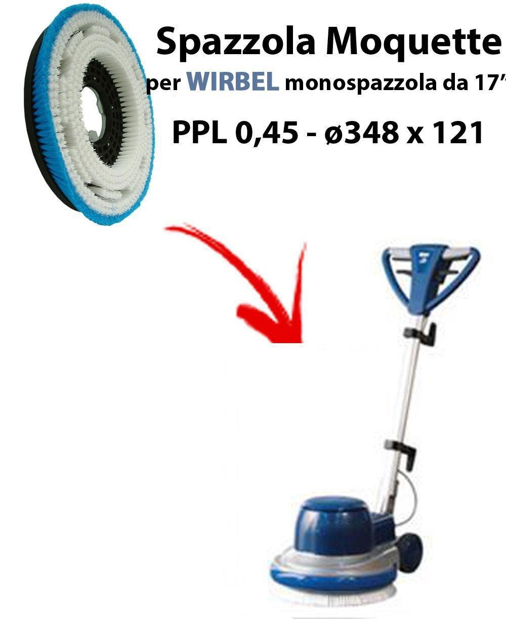 SPAZZOLA MOQUETTE per monospazzola WIRBEL C43. Modello: PPL 0, 45 C/FLANGIA ø 348 X 121 45 C/FLANGIA ø348 X 121 Synclean