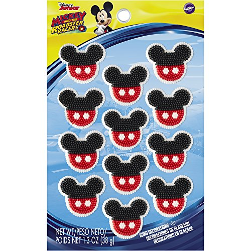 Wilton 710-7108 Mickey and The Roadster Racers Icing Decorations, Assorted