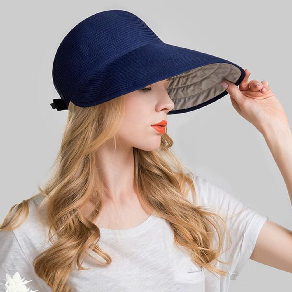 Amazon.com : Sun Hats CJC Sun Visor Full UV Girls Lady Women Ladies Summer Wide Large Brim Protection Outdoor Fishing Travel Beach Cap (Color : 1) : Sports ...
