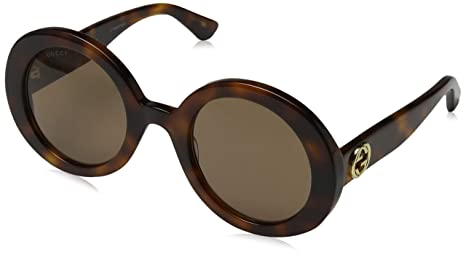 e1436b6a18 Gucci Sunglasses GG0107S 002 Gold Orange Fantasy Mirror  Amazon.ca ...