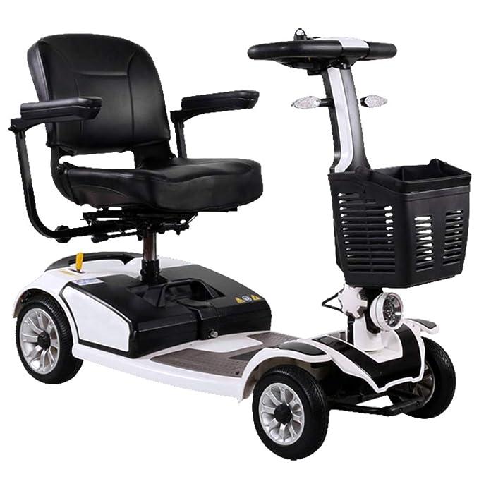 ACEDA Scooter Mobility | Vehículo De Movilidad | Moto Minusválidos | Moto para Personas Mayores |4 Ruedas | Barandilla Abrible | Freno ...