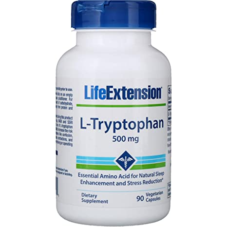 Amazon.com: L-Triptófano 500 mg, 90 Vegetariana capsules ...