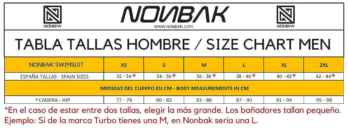 Nonbak bañador Hombre Slip Bombay PBT 55% y Poliéster 45%. Traje de baño Doble Forro. Duradero natación, triatlón: Amazon.es: Deportes y aire libre