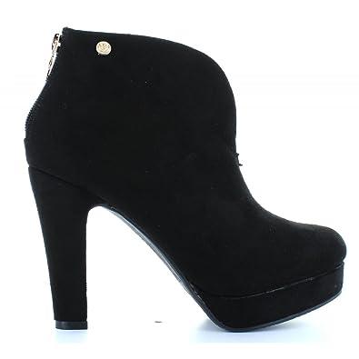 XTI Botines de Mujer 28461 Antelina Negro Talla 40: Amazon.es: Zapatos y complementos