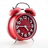 HENSE 4 Inch Smart Nightlight Alarm clock, Silent