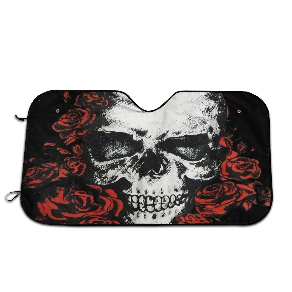 Hot Gothic Floral Skull Car Sun Shade for Car SUV Trucks Minivan Automotive Sunshade Keeps Your Vehicle Cool Heat Shield Shade(51'' x 27.5'') by Perfectly Customized