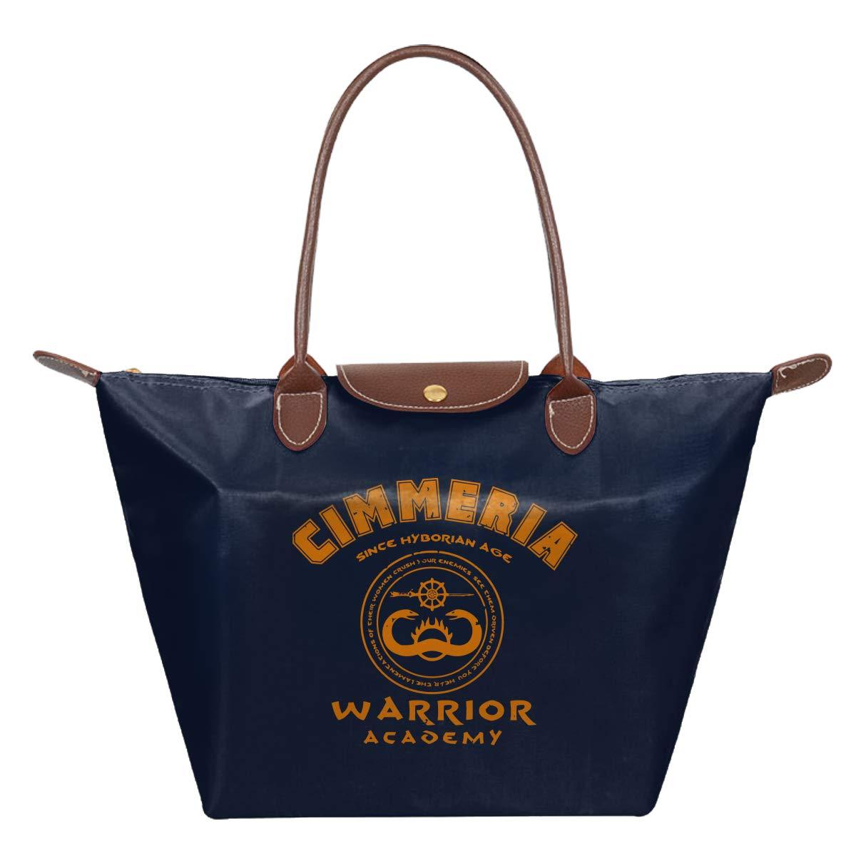 Cimmeria Warrior Academy Conan The Barbarian Waterproof Leather Folded Messenger Nylon Bag Travel Tote Hopping Folding School Handbags