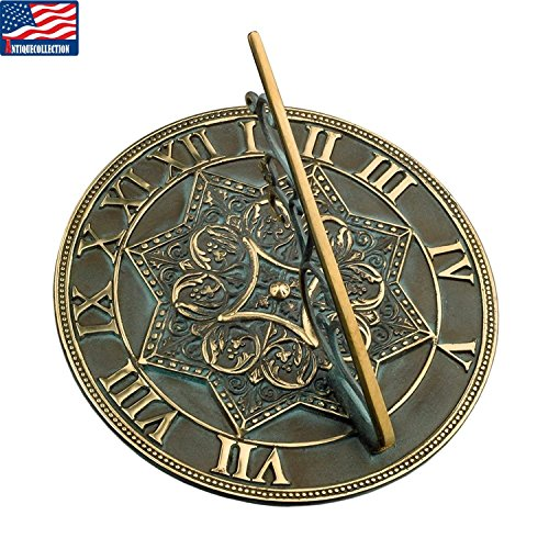 ANTIQUECOLLECTION Brass Gothic Sundial Gift