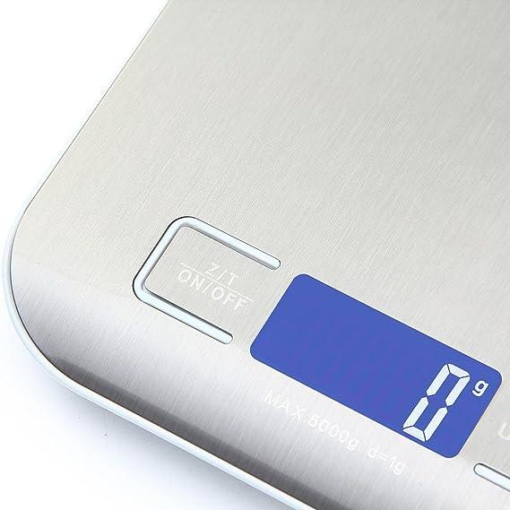 Báscula Digital de Cocina hanmir Peso de Cocina Báscula digital Cocina, Smart Weigh, Mini Balanza Escala Multifuncional electrónica para Alimentación ...