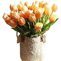 cn-Knight Artificial Flower 12pcs 20'' Long Stem Tulip Faux PU Flower Big Size Tulipa for Wedding Bridal Bouquet…