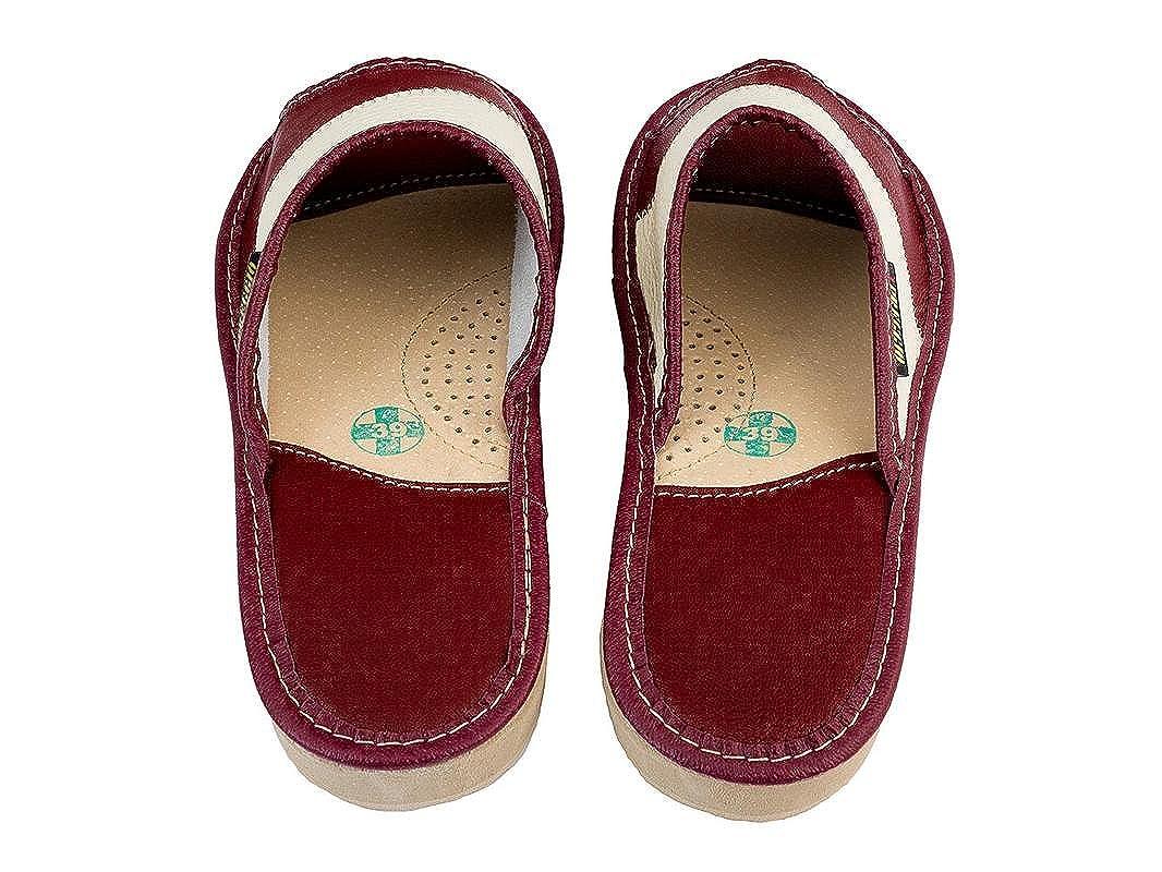 6b407ebf6b Apreggio Zapatillas De Piel para Mujer Pantuflas Suela De Goma Producto  100/% Natural Hecho a Mano