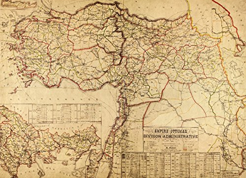 Turkey, Ottoman Empire - (1899) - Panoramic Map (16x24 Giclee Gallery Print, Wall Decor Travel Poster) ()