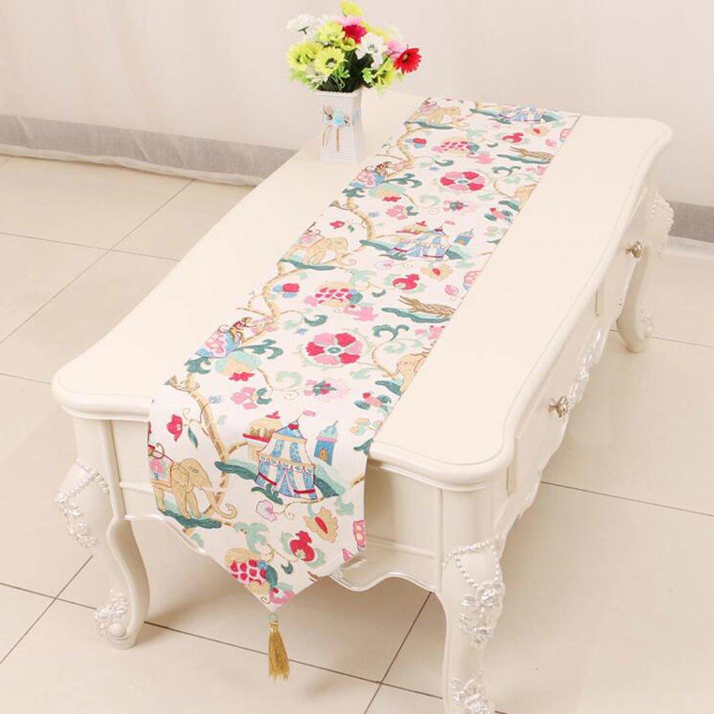 KKY-ENTER color mezclado patrón floral de mesa corredor simple ...