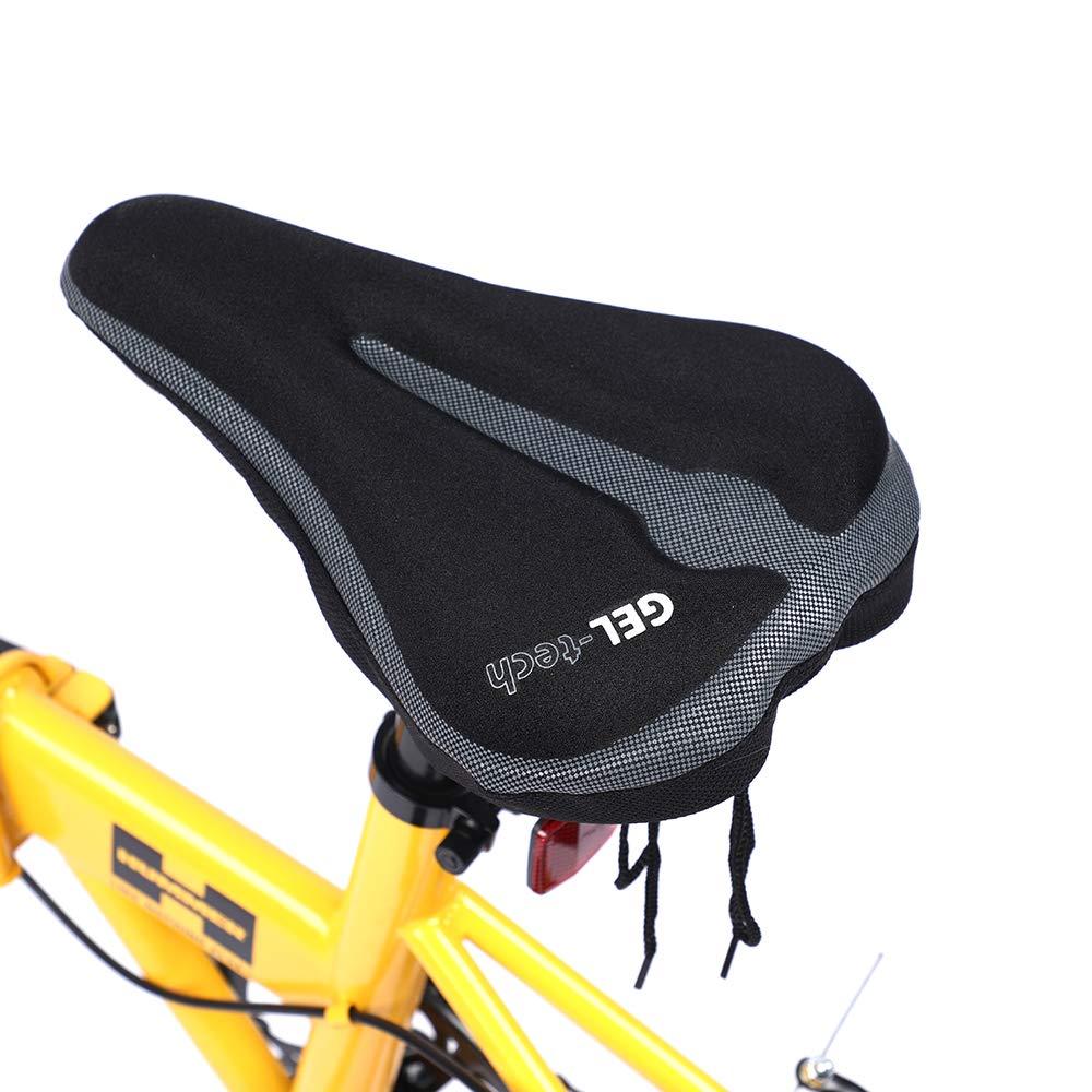 ZUKKA Bike Seat Cushion,Large Wide and Comfortable Bike Seat Cover ,Gel /& Foam Padded Bicycle Saddle Cushion