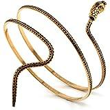 Bracelet Haut de Bras Serpent Or Vieilli