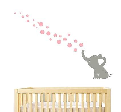 Stencil Adesivi Per Pareti Bambini.Sayala Elephants Soffia Bolle Stickers Murali Adesivi Murali Bambini Kit Adesivi Da Parete Decorazione Murale Per La Cameretta Dei Bambini Motivo