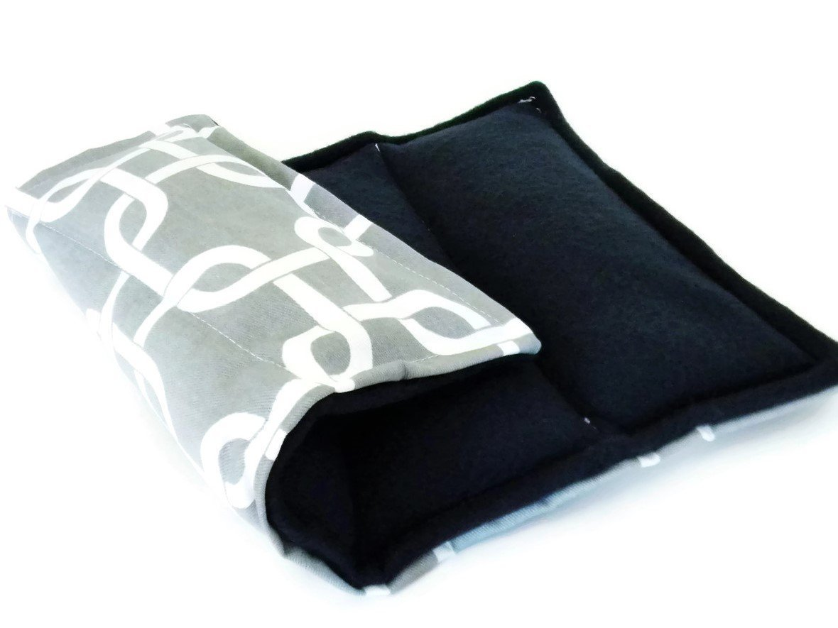 Microwave Heating Pad Neck Wrap and Rice Pack, Unscented or Lavender Relaxing Gift, Pain Relief Spa Set