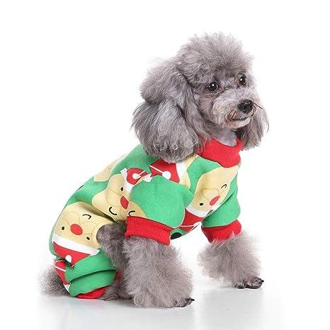 RFVBNM Mascota Ropa para Perros Navidad Traje de Traje de ...
