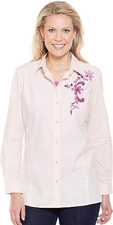 Nino Cerruti Camisa Bordada De Algodón para Mujer Rosa 50: Amazon.es: Ropa y accesorios