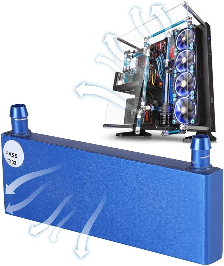 Diyeeni Water Cooling Block for CPU,40120mm Aluminum Alloy CPU industy Radiator,CPU Cooler Heat Sink for Computer CPU Water Industrial Inverter Drive,