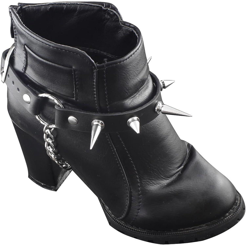 Women Western Fashion Boot Bracelet Silver Metal Circle Rings Shoe Anklet Strap