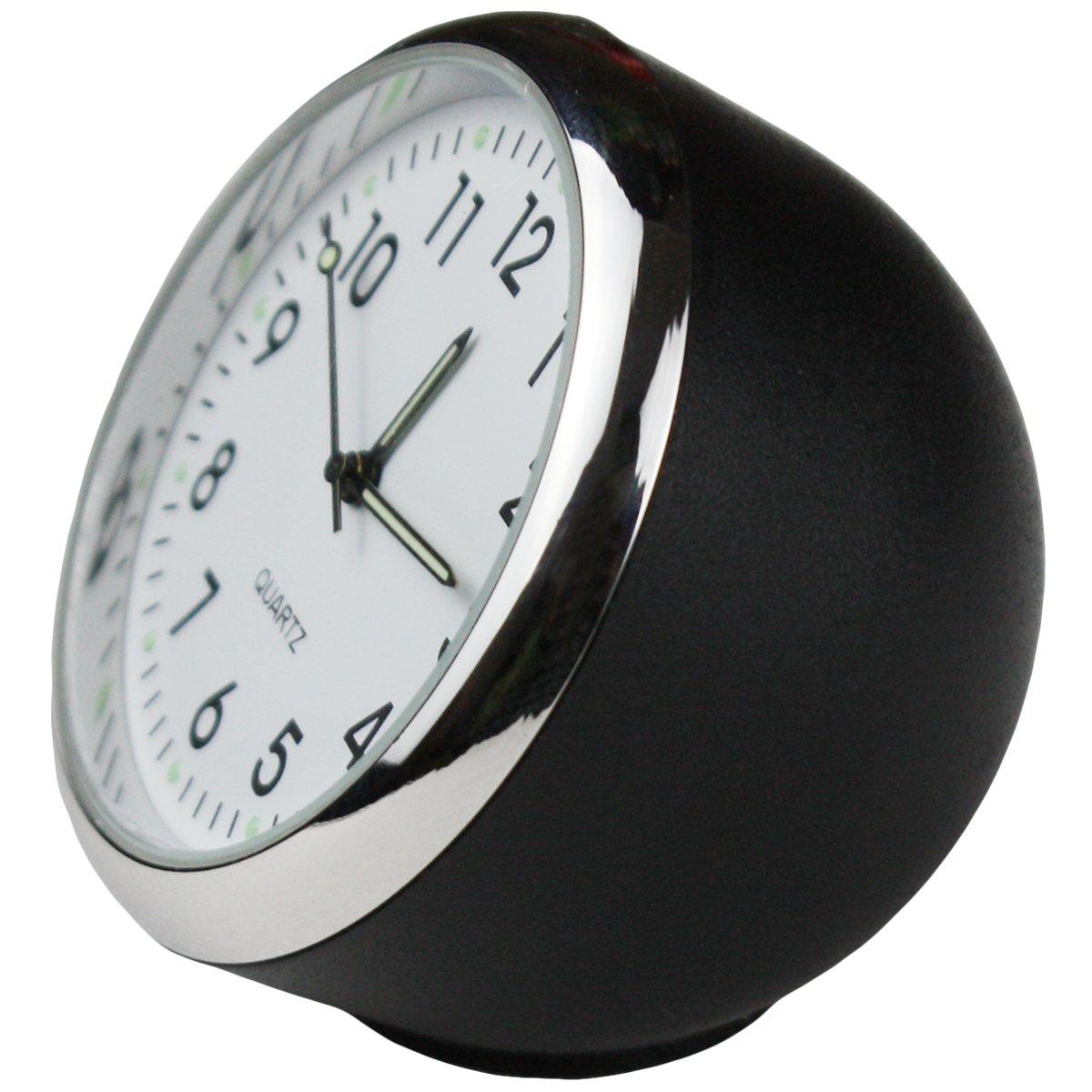 Txian Custom High Accuracy Car Clock Small Round Onboard Quartz Clock Perfect Car Decoration white dial /& white shell
