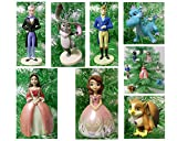 Sofia the First 7 Piece Holiday Christmas Ornament Set Featuring Sofia, King Roland II, Queen Miranda, Baileywick, Clover Crackle, and Baby Griiffin - Shatterproof Ornaments Range from 2