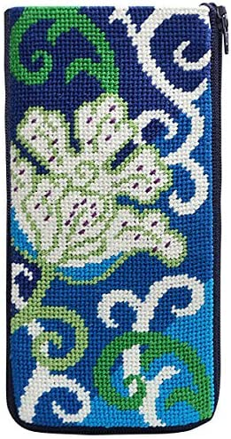 Stitch /& Zip Needlepoint Eyeglass Case Kit Imari Abstract