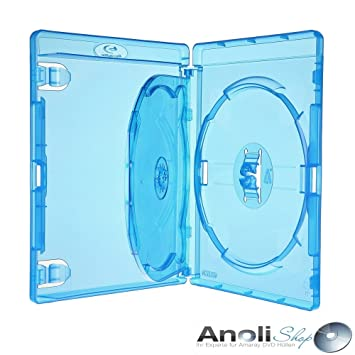 Amaray Blu Ray con baldas para 3 Disc, DVD, Blu Ray 6 fundas ...