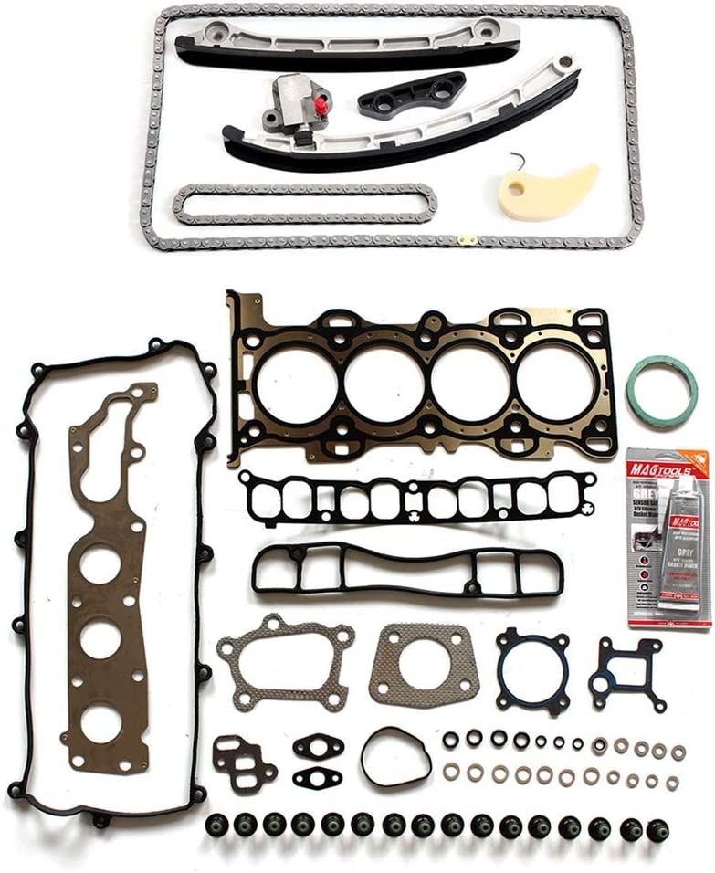 FEIPARTS Automotive Replacement Timing Chain Cover Gasket Kit Compatible for L3K912500A L3K912201A Mazda 3 6 CX-7 2.5L 2.3L 2007 2013