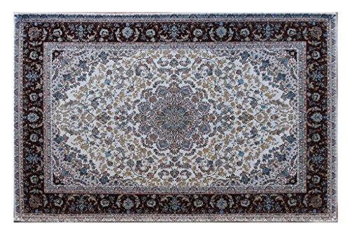 (Masada Rugs, Traditional Floral Area Rug, Non Slip Backing, Washable (2 Feet 3 Inch X 4 Feet))