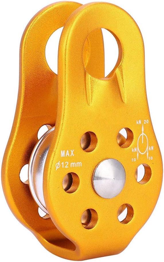 Alomejor 25KN Flaschenzug Aluminiumlegierung Klettern Flaschenzugblock Anti Skid Platten Einzelnen Flaschenzug f/ür Rettung