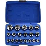 """Domeiki 19pc Octa-Metric Socket 1/2"""" inch Drive 6, 8, 12 Point Muliti-Fit Tool Set"""