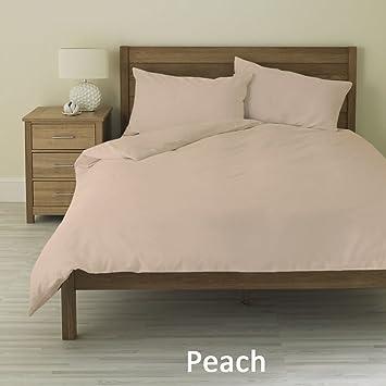 Amazon Com 3 Piece Duvet Cover Set 1 Fitted Sheet Peach Color