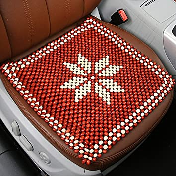 Red Beads Car Seat Cover Cool Cushion Sofa Chair Pad Covers Office Enjoy A Soothing Comfort