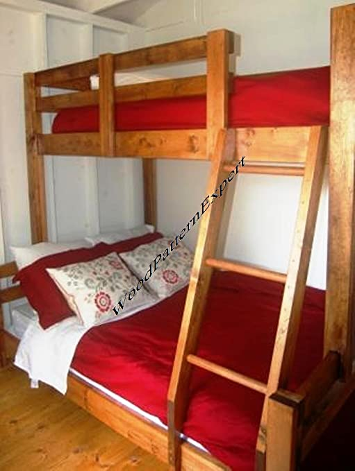 Woodpatternexpert Bunk Bed Paper Plans So Easy Beginners Look Like Experts Build Your Own King Over Queen Over Full Over Twin Using This Step By Step