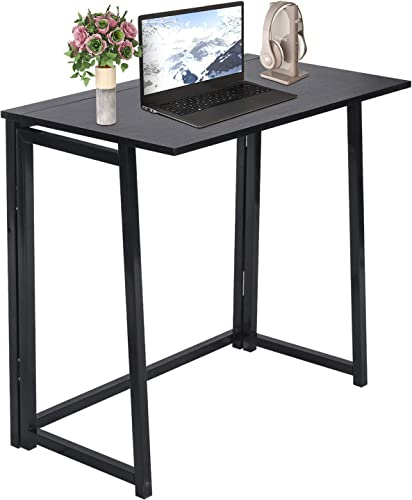 No-Assembly Small Computer Desk Home Office Desk Foldable Table Study Writing Desk Workstation